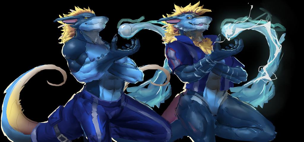 [CJAYCEART] My Hero Dragon - Rain and Storm