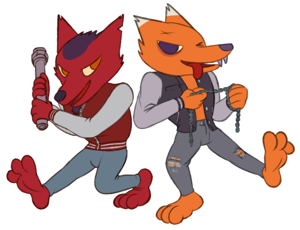Couple a' fox thugs!