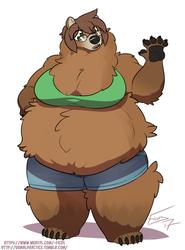 A girl can go full bear