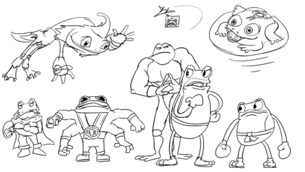 Fightin' frogs