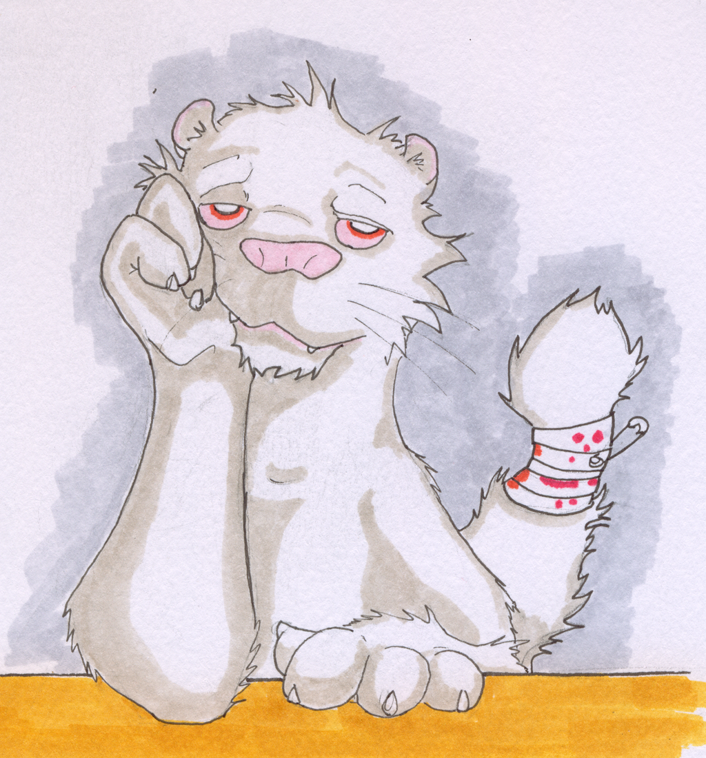 Most recent image: Self-portrait: ferret