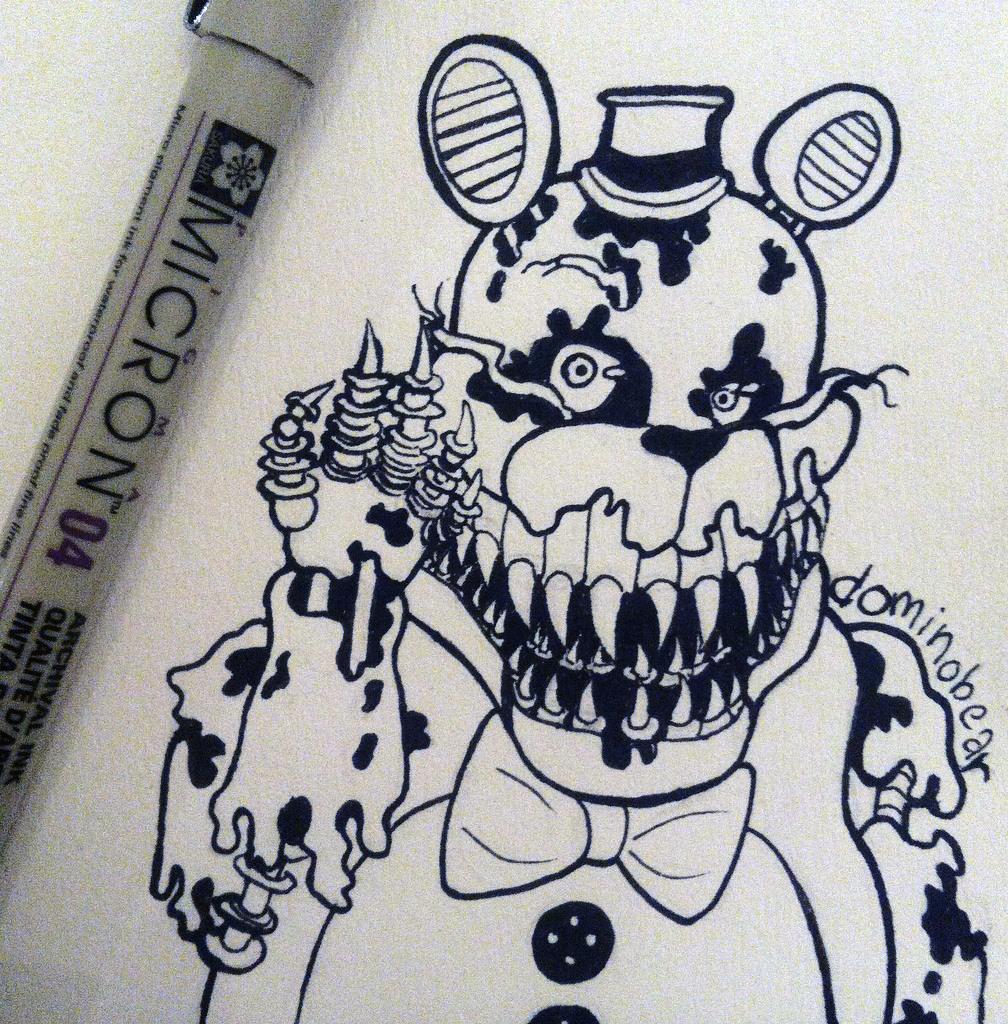 Inktober 7 - Fredbear