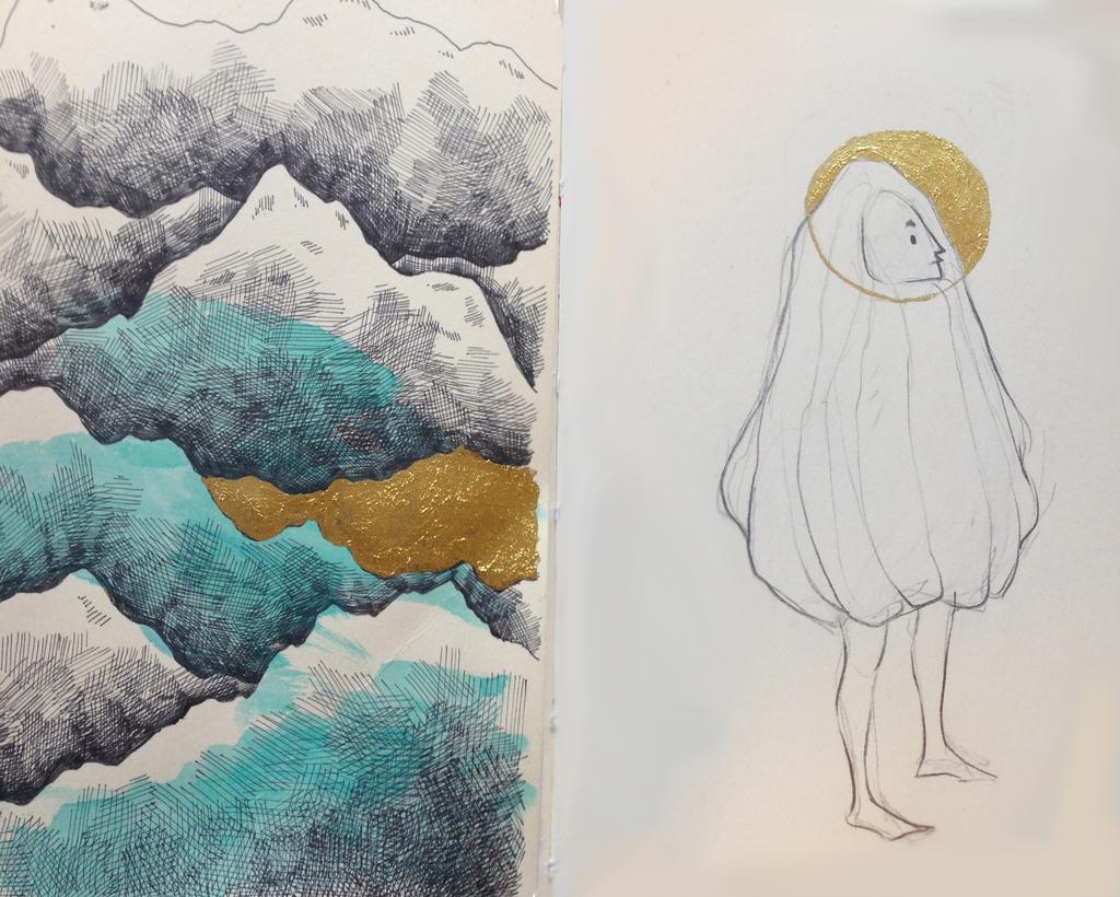 sketchbook- gold