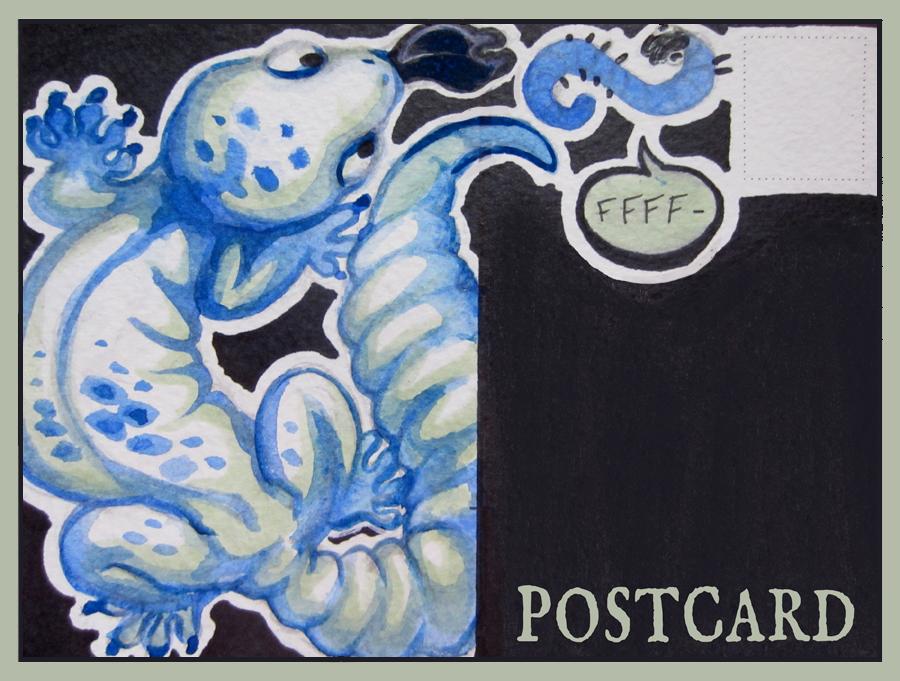 .Gecko Postcard.