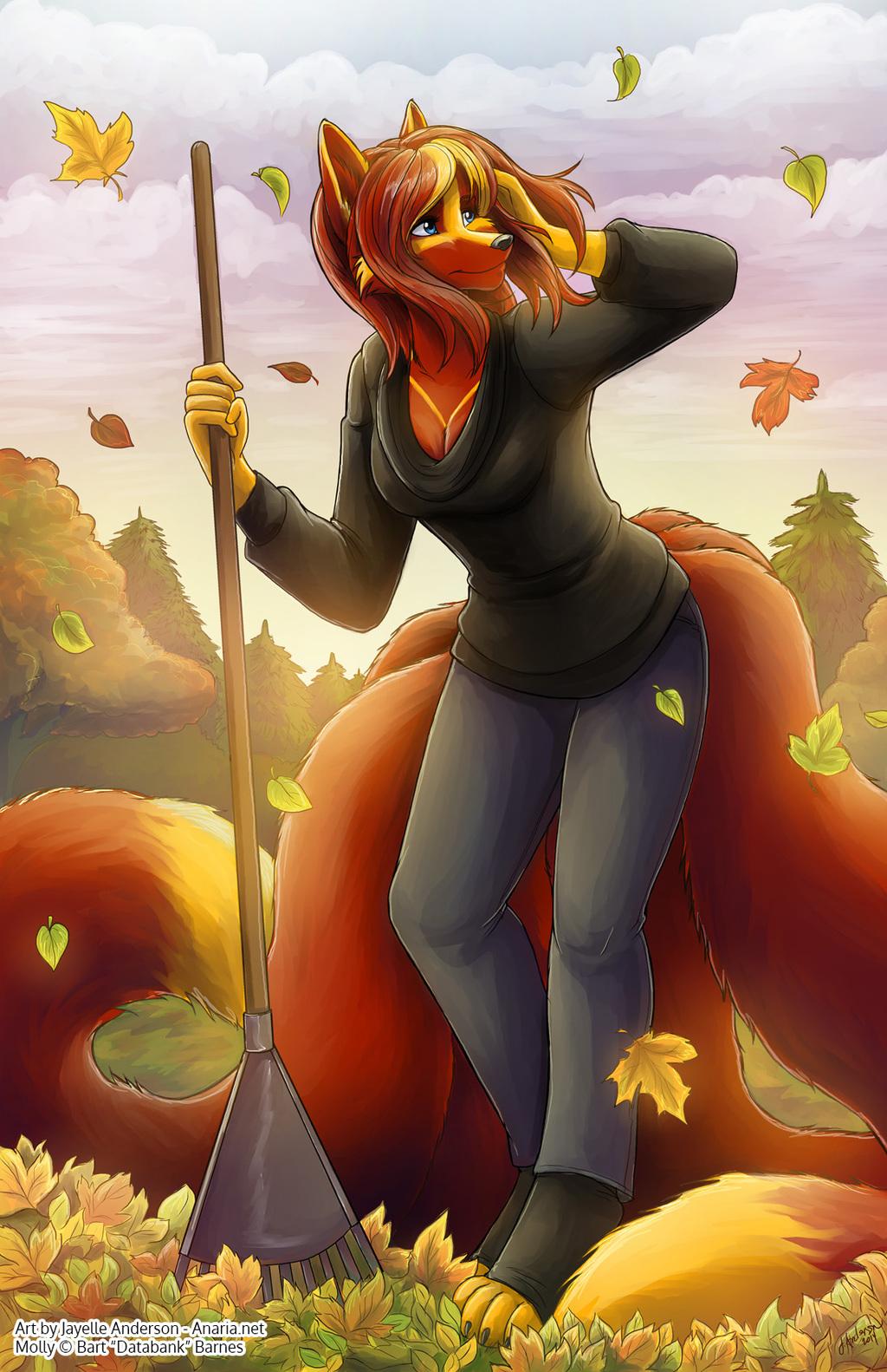 Molly in Fall