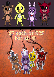 Five Nights at Freddy's chibi charms!