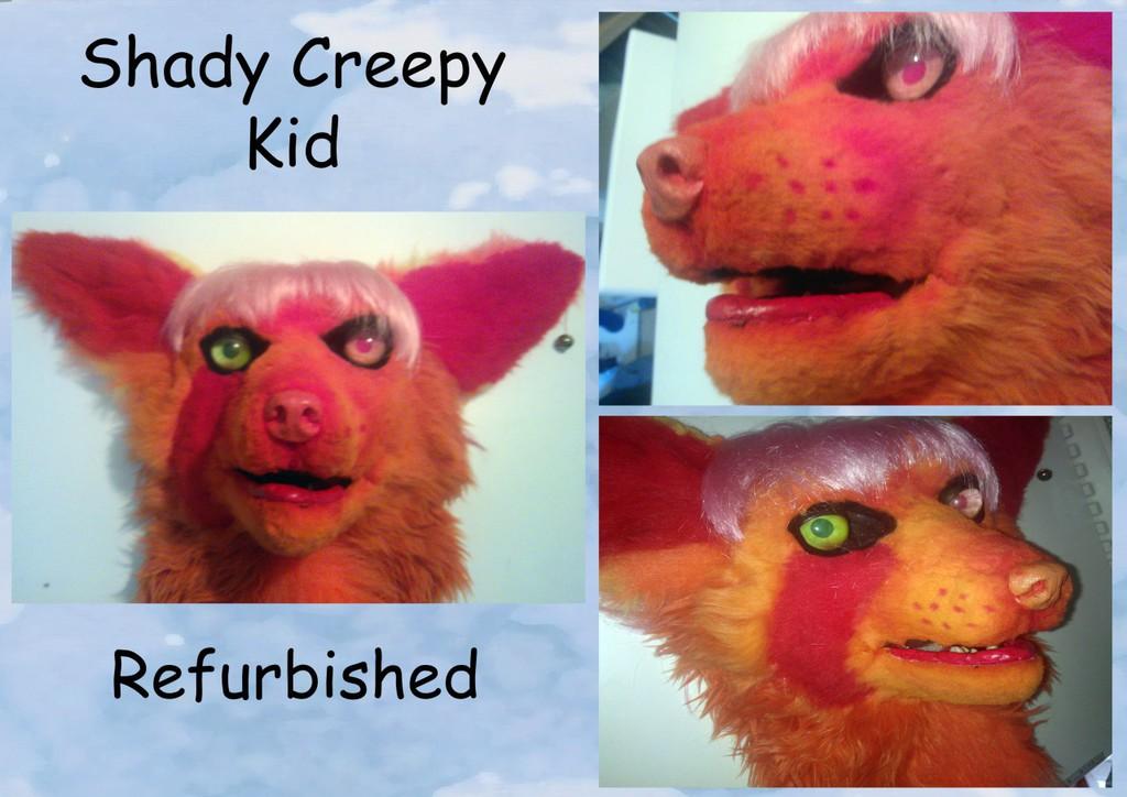 Shady Creepy Kid Fursuit Head