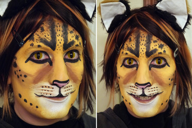 Savannah Cat makeup practice #1