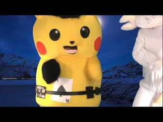 "Mascot Fursuiting: Ace Spade the Pikachu at ""Crystal Lake"" (Friday the 13th Special)"