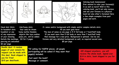 Furry Coloring Book Slots *Open*