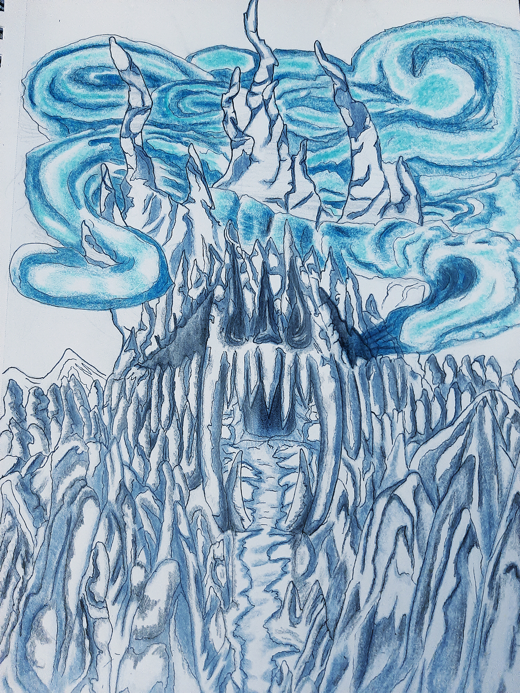 Most recent image: Concept - Ice Dragon Cave with Color