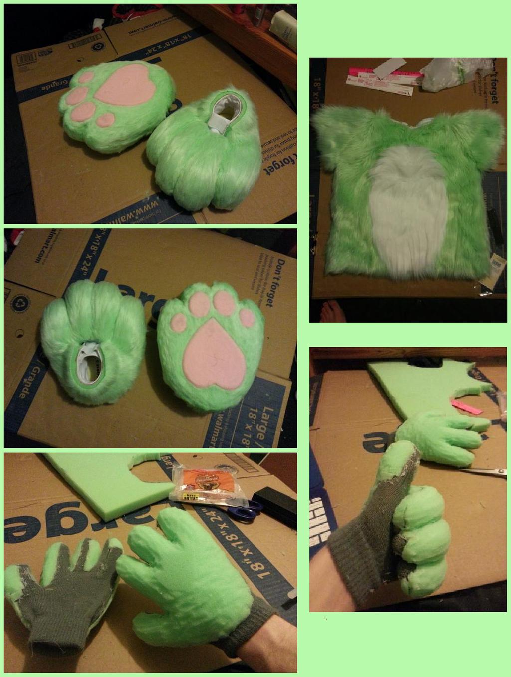 Boi's Suit WIP - Miscellaneous Progress Collage