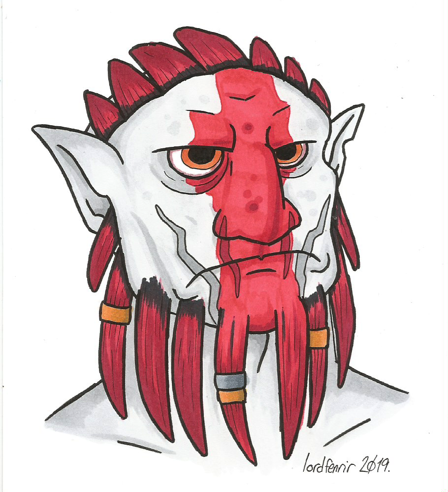 Inktober 2019 Day 25 - Orc
