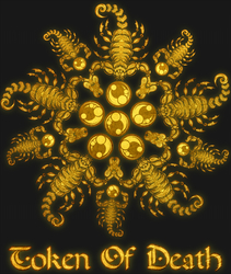 Scorpion Flower - Gold Metal Shirt