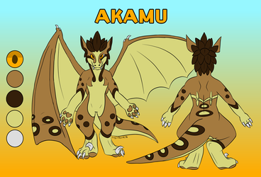Akamu the Chaos Raptor ref sheet [commission]