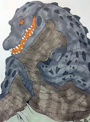 Inktober Gator Man