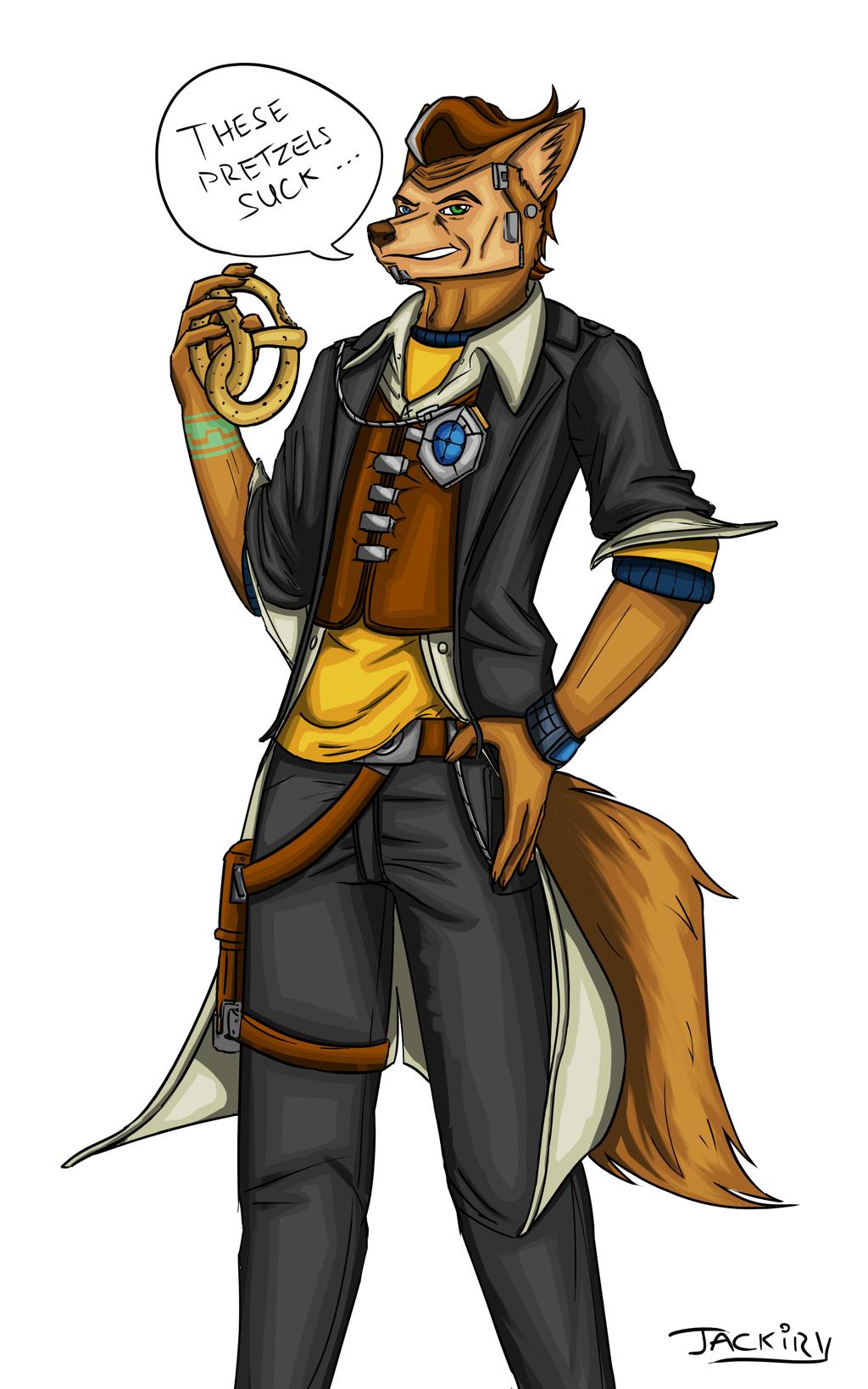 Handsome Jack - Art trade half.