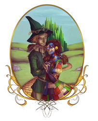 Commission - Scarecrow & Patchwork Dorothy