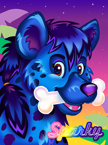 Lisa Frank Badge - Sparky