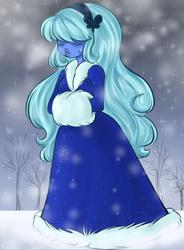 Snowy Sapphire