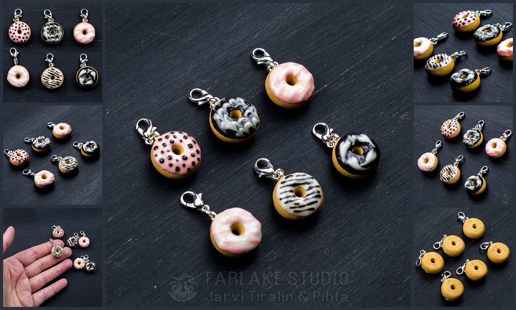 Donuts charms set of 6