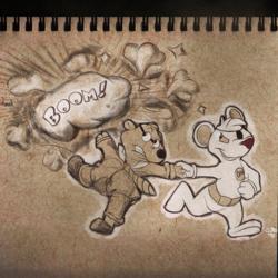 Inktober day 3: Danger Mouse