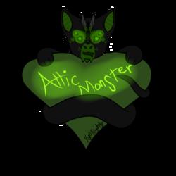AtticMonster Grabby Heart