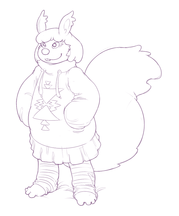 Casual Sweater Squirrel