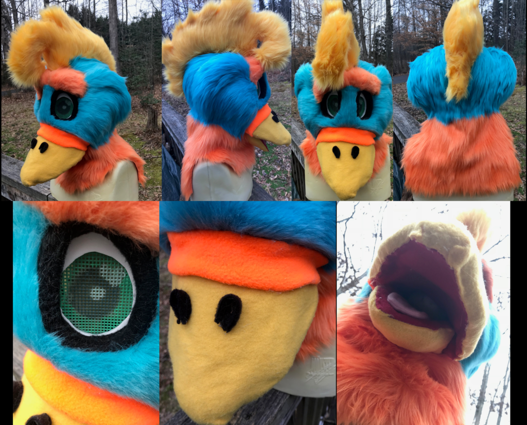 Tropical Bird Fursuit Head