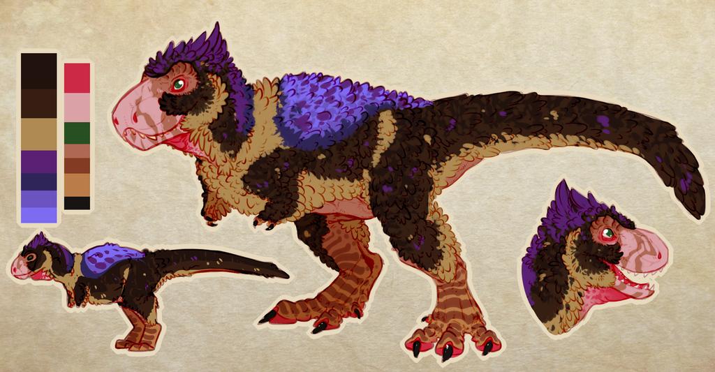 [C] Fluffy T-rex Design