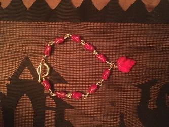 Red Leaf Bracelet