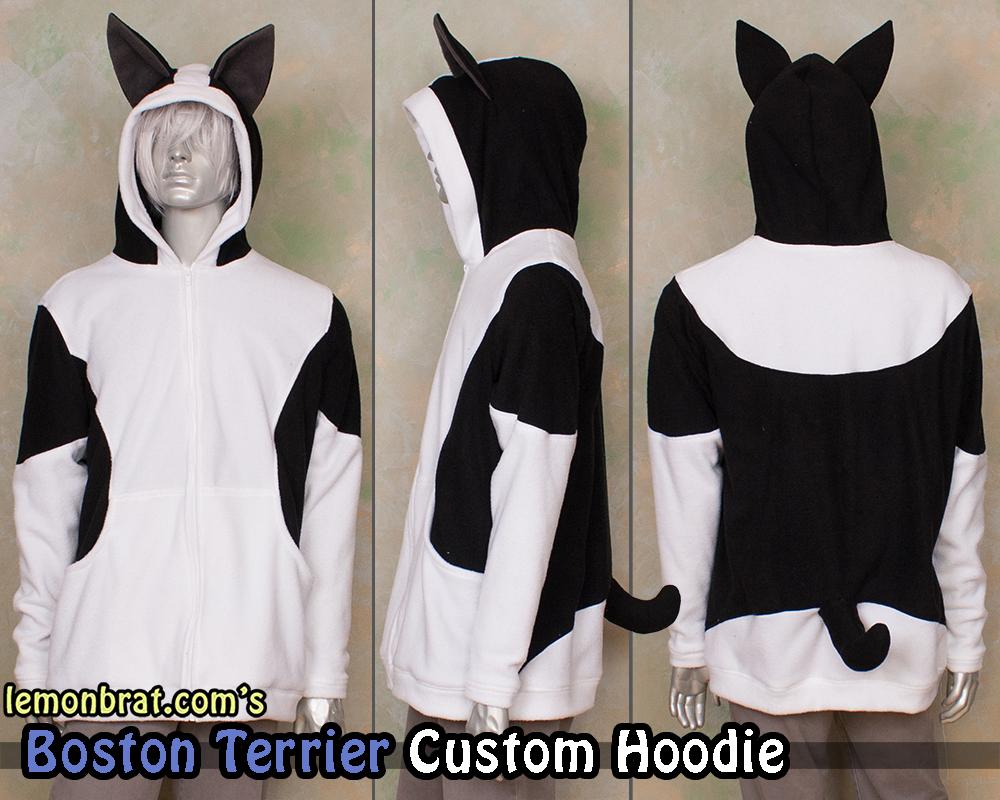 Boston Terrier Custom Hoodie!