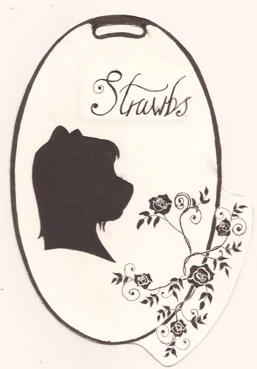 traditional cut-out silhouette badge