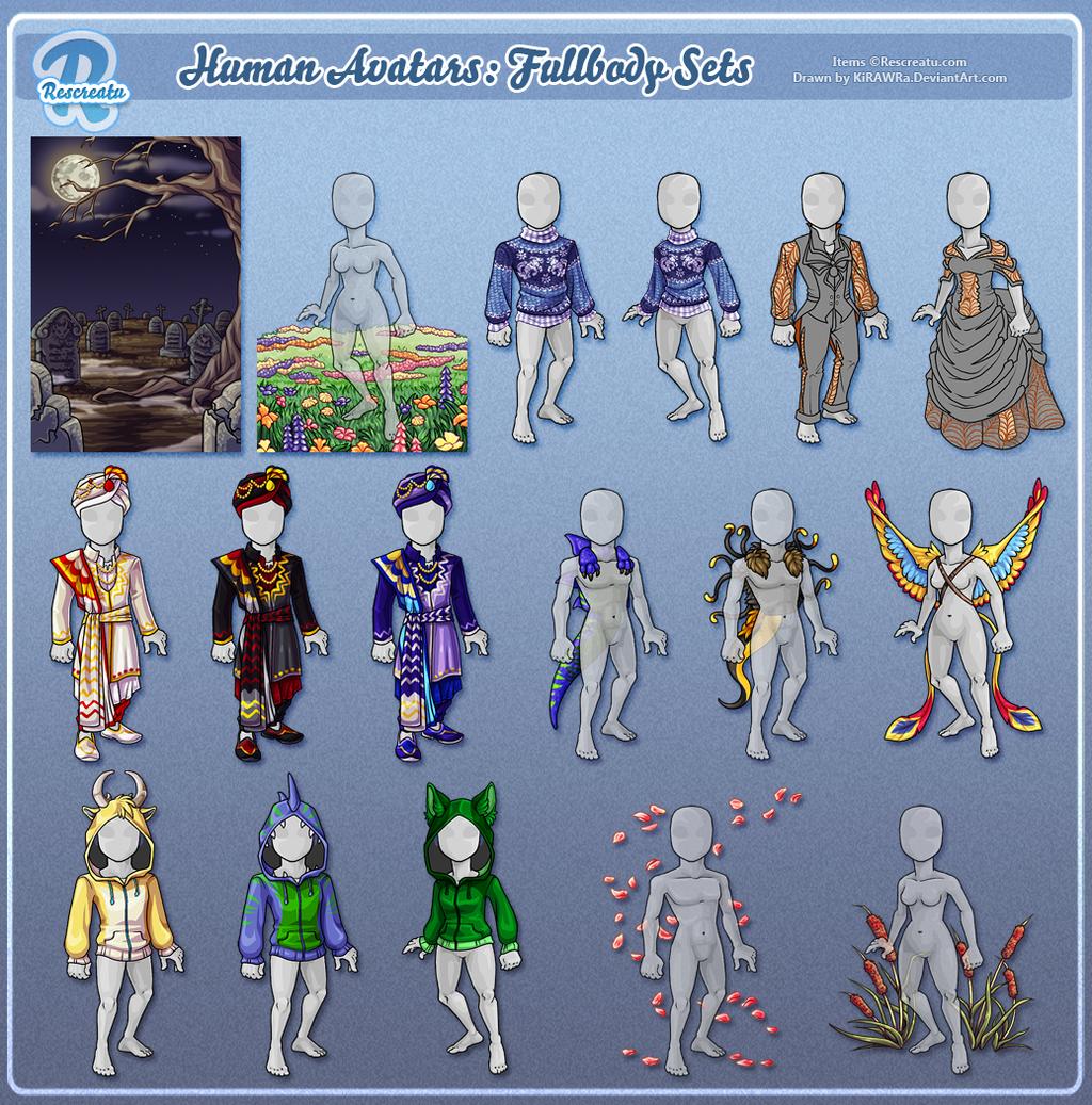 Rescreatu Avatars: Fullbody Sets