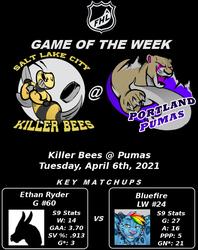 FHL S9 GOTW #10: Killer Bees @ Pumas
