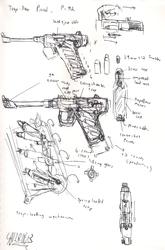 trap-door pistol