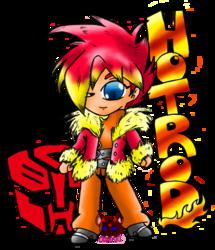 chibi gijinka hot rod