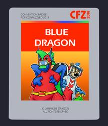 Confuzzled 2018 Badges - Blue