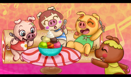 Ricky Demont Pig Ice Cream Party Commission