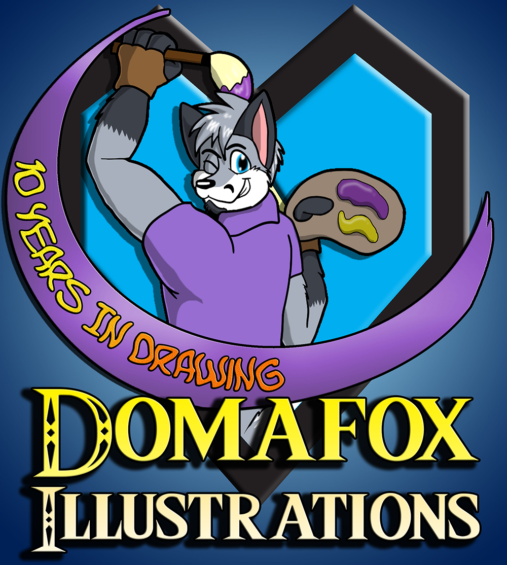 Domafox Illustration 10th Year Logo