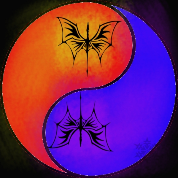 Dragon's energy yinyang