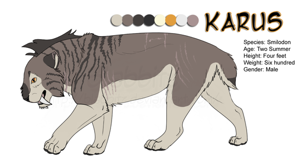 Most recent image: Karus: character sheet