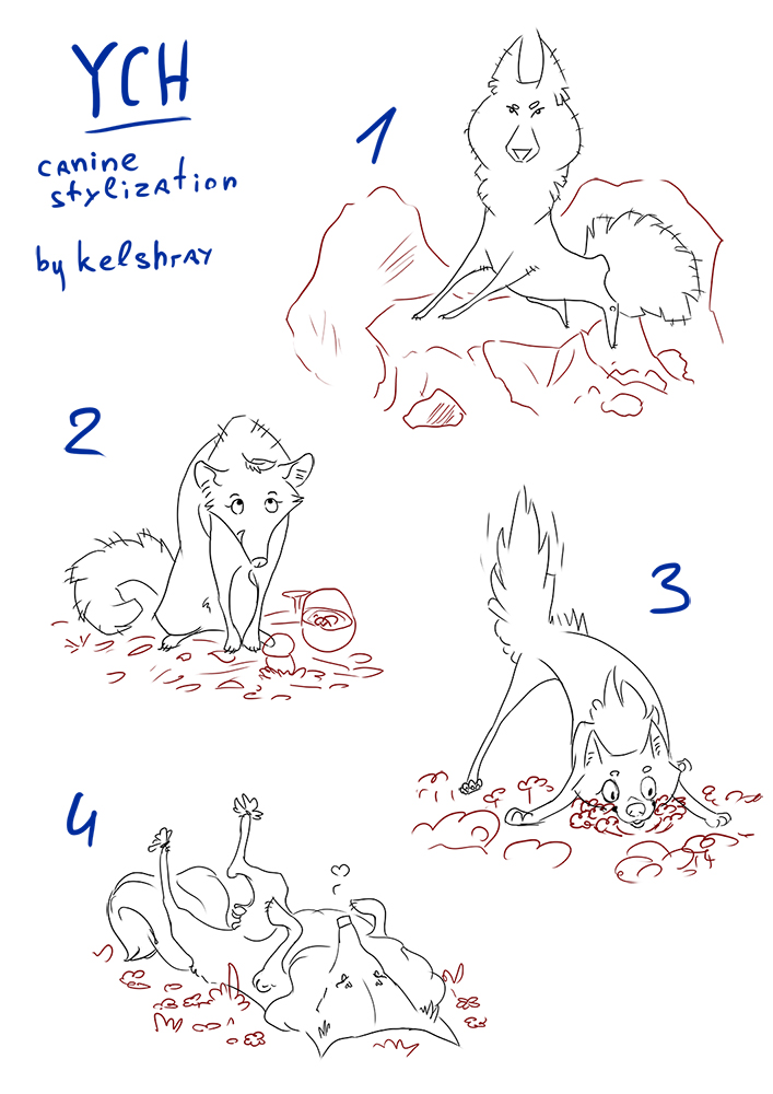 YHC auction [OPEN] - stylizated canine