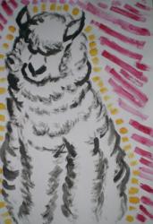 Acrylic alpaca