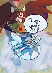 Cirno and Utsuho play tag!