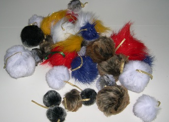 For sale #5: Tree Tribble ornaments/cat toys