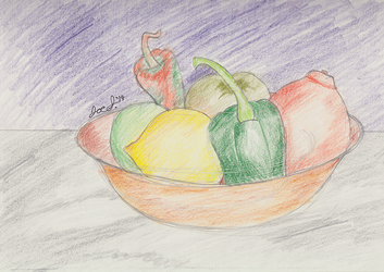 Drawing Class Project 1a - Fruit Basket
