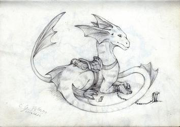 Slavery - water dragon sketch - 2014/07/04