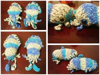 Beach cuttlefish pair
