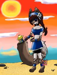 ice cream and beach